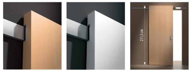 Posuvné systémy jsou kromě standardního světlého niklového, hliníkového a chromovaného povrchu nově k dispozici i v černé barvě. (Zdroj: Masonite)
