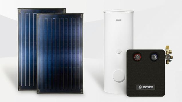 Solární paket Standard FKC je efektivní systémové řešení – kombinace plynový kotel a solární vytápění a ohřev vody. Díky integrovanému algoritmu SolarInside a správné regulaci dochází u celého paketu k navýšení průměrné roční úspory (cca 60 % při solárním ohřevu teplé vody) o dalších 15 % (BOSCH)
