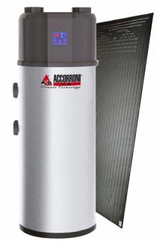 Thermodynamic Green je tepelné čerpadlo, u kterého místo jímání tepla ze vzduchu v okolí ohřívače je nainstalován termodynamický panel, který získává teplo nejen ze slunečního záření, ale i z okolního vzduchu a za jakéhokoliv počasí (ACCORONI)