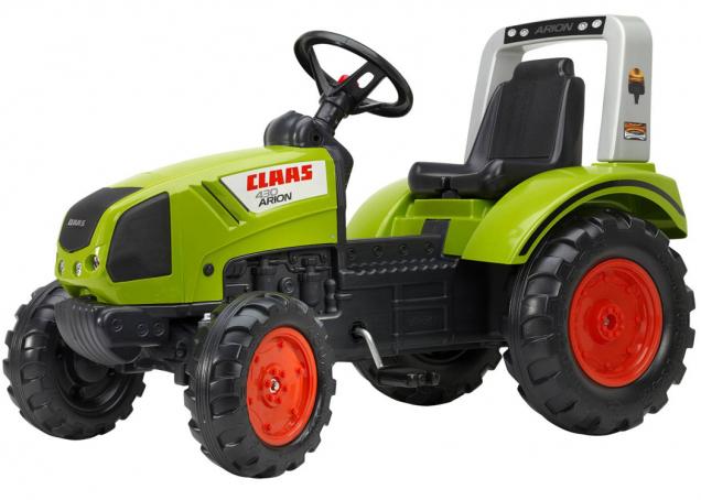 Šlapací traktor, který je mini verzí skutečného traktoru Claas Arion 430 (Zdroj: Mountfield)