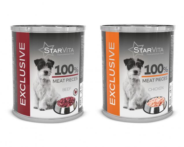 Superprémiové konzervy StarVita Exclusive 820g (Zdroj: Mountfield)