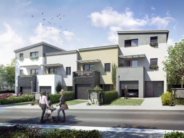 Díky různým výškám, jemným barevným kontrastům a vzájemnému posunutí hmot řadových domů působí soubor Beranka II pestrým a zajímavým dojmem (navrhl ateliér Loxia)