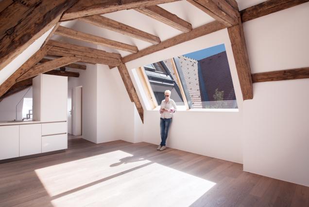 Kuchyně, pracovna i ložnice v podkroví mohou být oblíbené, vzdušné, parádní (Zdroj: Solara)