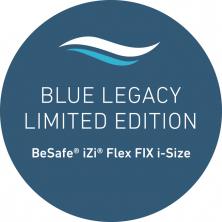 Modré potahy autosedaček BeSafe iZi Flex i-Size Blue Legacy jsou vyráběny z recyklovaných plastových lahví vylovených z oceánů (Zdroj: Babypoint)