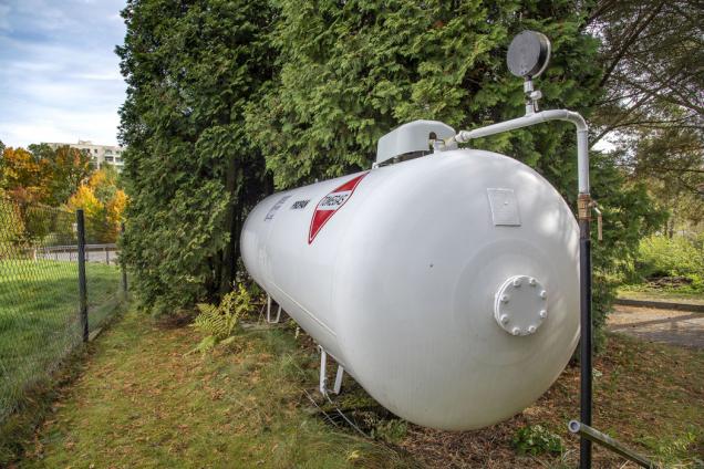 Zásadní položkou rozpočtu bude pořízení zásobníku (nádrže) na kapalný plyn. (Zdroj: TOMEGAS)
