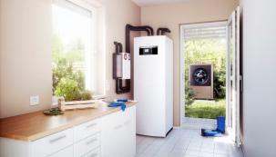 Tepelná čerpadla řady Logatherm WPL AR v provedení vzduch/voda přinášejí moderní a ekologický způsob vytápění díky využití energie z obnovitelných zdrojů (BUDERUS)