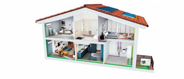 U Enbra iSERIES (split) lze na venkovní jednotku volitelně připojit modul pro přípravu teplé vody (EMIX), hydrobox pro vytápění a chlazení a/nebo klimatizační jednotky (ENBRA)