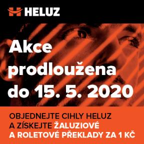 Sohledem na situaci vyvolanou pandemií koronaviru se rozhodla česká společnost HELUZ svou každoroční Jarní akci vletošním roce mimořádně prodloužit. Vjejím rámci tak mají stavebníci o celý měsíc déle na registraci (do 15. května 2020), jakož i na vývoz zdiva HELUZ FAMILY nebo HELUZ FAMILY 2in1, za který mohou získat nosné žaluziové a roletové překlady za 1 Kč/ks (s kaucí až do 31. července 2020). (Zdroj: HELUZ)