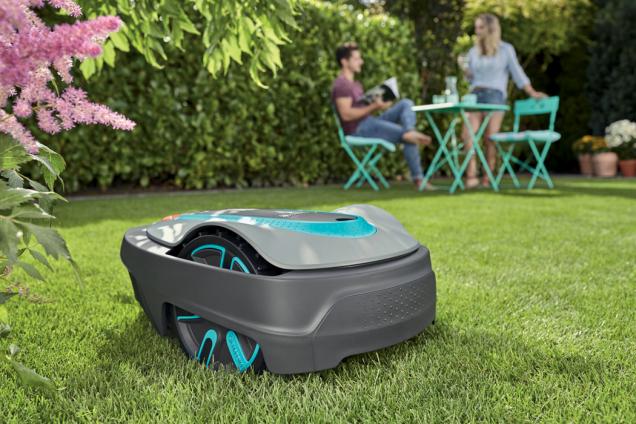 Robotická sekačka Gardena (Zdroj: Hornbach)