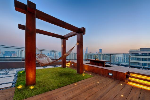Vegetační střecha může být skvělým místem pro relaxaci (Zdroj: ISOVER)