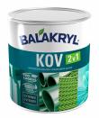 Balakryl Kov 2v1 je vodou ředitelná jednovrstvá krycí barva určená k novým i renovačním nátěrům kovů a plechů, i cementovláknitých materiálů v interiéru i exteriéru, cena od 140 Kč (BALAKRYL)