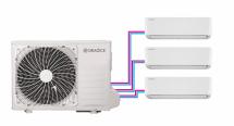 Venkovní jednotka sdvěma vnitřními (klimatizace AIR typu multisplit)
