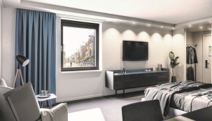 Systém Schüco VentoFrame Asonic nabízí zdravý vzduch a zvukovou izolaci, to vše v nenápadné konstrukci při pohledu zevnitř i zvenku (zdroj: Schüco International KG)