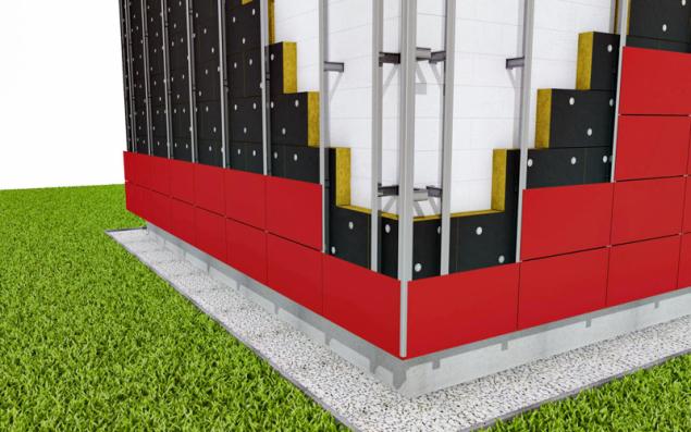 Při návrhu tloušťky izolace je třeba zohlednit vliv tepelných mostů, kterými jsou nosné rošty a kotvicí prvky (ROCKWOOL)