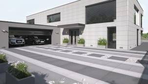 Dlažba MONUME XL, černo-bílo-šedá kombinace (zdroj: Presbeton)