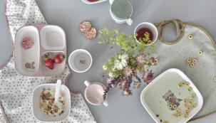 """Nové melaminové nádobí Lässig vypadá na první pohled jako z porcelánu. Výhodou tohoto zdravotně nezávadného materiálu organického původu je vysoká odolnost proti """"hrubému zacházení"""""""