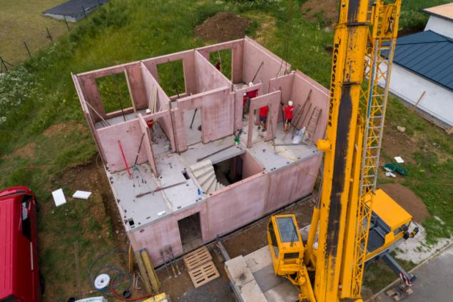 Stavba domu - druhé podlaží