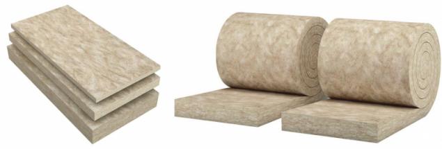 Rozdíl mezi minerální izolací ve formě desek a rolí je pouze v jejich formě – všechny ostatní vlastnosti mají jinak naprosto shodné (zdroj: URSA)