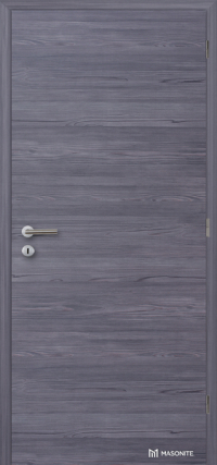 Plné dveře v odolném CPL povrchu s horizontálním dřevodekorem fleetwood lávověšedý (Masonite)