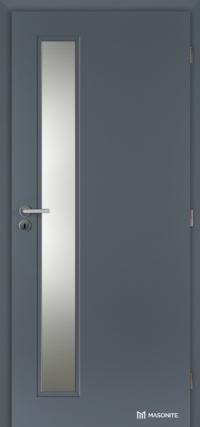 Bezpečnostní prosklené dveře Masonite Vertika v povrchové úpravě CPL laminát v antracitové barvě