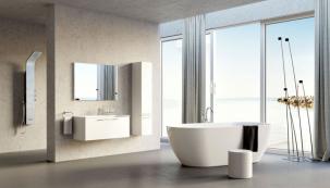 Model Freedom z litého akrylátu vychází z čistě ergonomického tvaru (rozměry 169 x 80 cm, objem 320 l, středový odtok). Výrobce RAVAK, koupíte v prodejní síti Ravak a Koupelny Ptáček