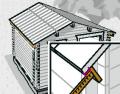 Po vybudování střešní konstrukce začistěte okraje oken vnější a vnitřní krycí lištou. Pro odvod vody připevněte na střešní bednění okapové prkno. Stabilitu domku a jeho zajištění proti větru dosáhnete tím, že stěny a střechu spojíte pomocí úhelníků a závitových tyčí