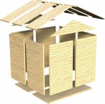 Dřevěný zahradní domek Konsta (zdroj: Hornbach)