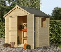 Dřevěný zahradní domek Konsta Modus (zdroj: Hornbach)