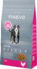 Suché krmivo FINEVO Junior dog nabízí kvalitní, lehce stravitelné bílkoviny a minerální látky, které jsou přizpůsobené potřebám mladých psů (zdroj: Hornbach)