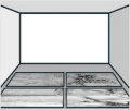 2. krok: Fototapetu si na podlaze zkontrolujte a sestavte