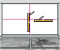3. krok: Nakreslete si na zeď tenkou tužkou vodítka