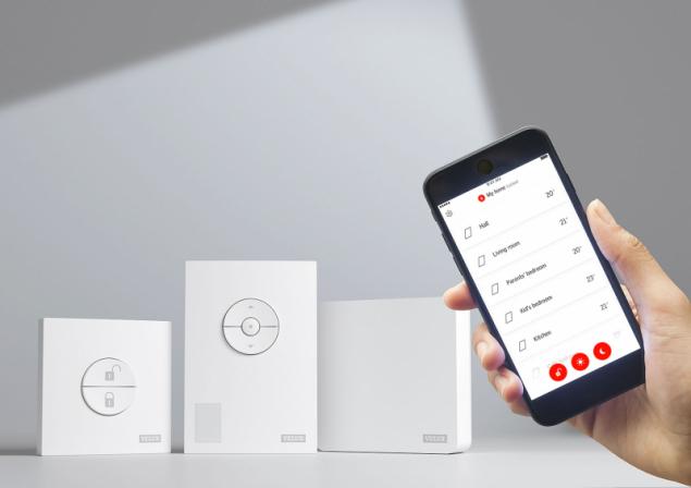 Řídicí jednotka zdravého vnitřního prostředí VELUX ACTIVE KIX 300, mobilní aplikace pro Android i iOS, kompatibilní s Apple HomeKit a Google Assistant (VELUX)