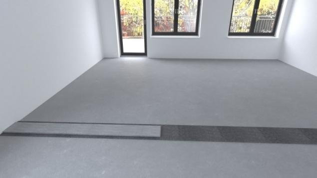 Na asfaltový pás se nanese zakládací malta ve dvou pruzích cca 9 cm širokých