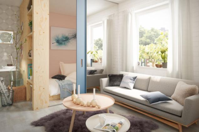 U malých prostor je denní světlo a osvětlení bytu velmi důležité. Při výběru osvětlení je dobré vsadit na střídmost – jak u velikosti, tak i u materiálu (zdroj: Hornbach)