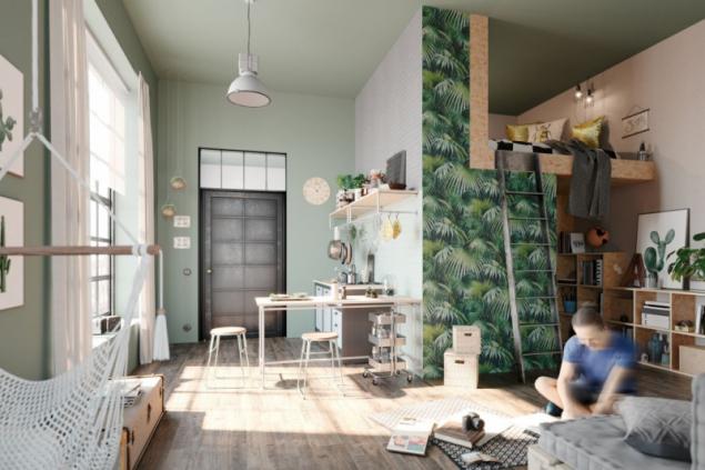 Dobré je myslet i na prostory, které nejsou běžně využívané a udělat z nich úložné. Dobrým řešením do malých bytů je i patrová postel (zdroj: Hornbach)