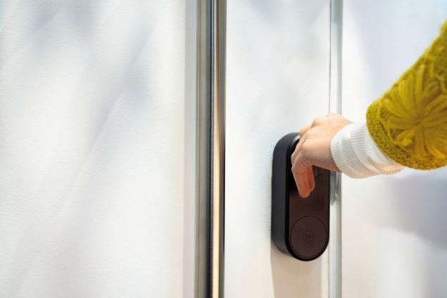Elektronický zámek dveří Yale ENTR (zdroj: Hornbach)