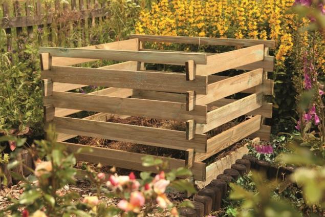 Kompostér dřevěný (zdroj: Hornbach)