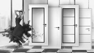 CLARA MASONITE - bílé lakované dveře s trojvrstvým lakem