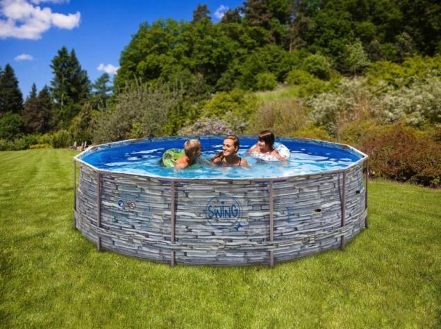 Rámový bazén Swing Stone (zdroj: Mountfield)