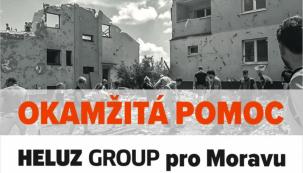 Okamžitá pomoc HELUZ GROUP pro Moravu