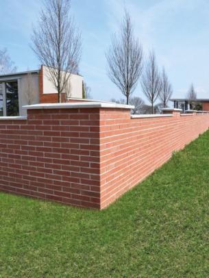 Betonové cihly lícové, červená hnědá (zdroj: PRESBETON)