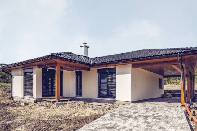 Referenční dům vKonárovicích (zdroj: Haas Fertigbau)