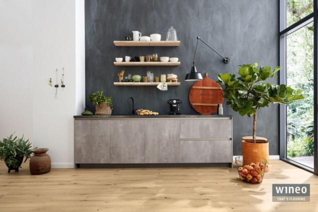 Ekologická podlaha Wineo PURLINE 1200, dekor Announcing Fritz (zdroj: KPP)