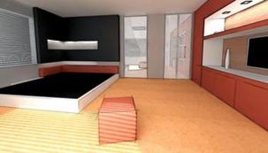 Prostorové uspořádání ložnice
