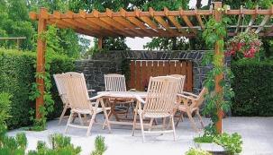 Místo pro rozjímání na zahradě